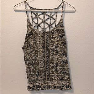 Cool printed top with strappy back